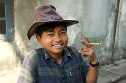 Cheroot smoking Burmese
